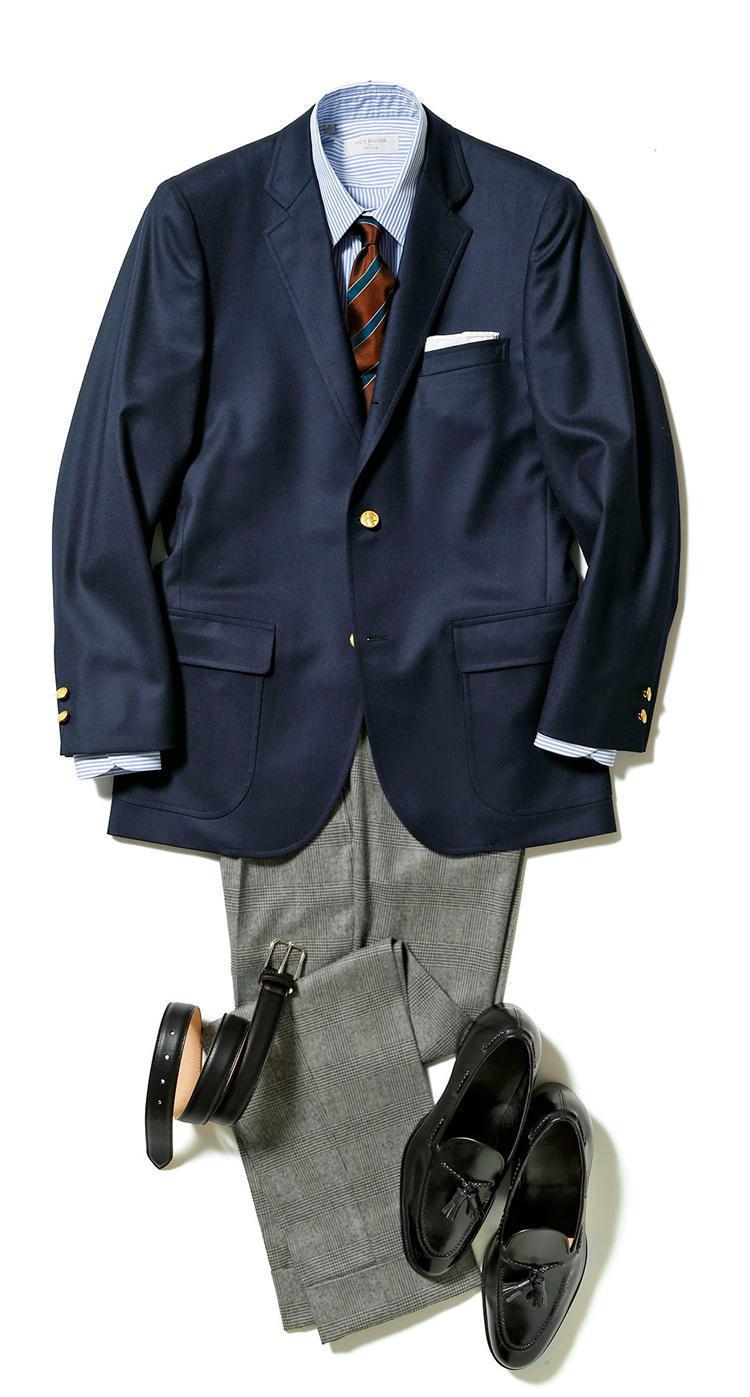 """【""""着回し力""""で選ぶジャケット&パンツ】紺ブレが一着あれば、仕事も休日も1week対応できる! 2番目の画像"""