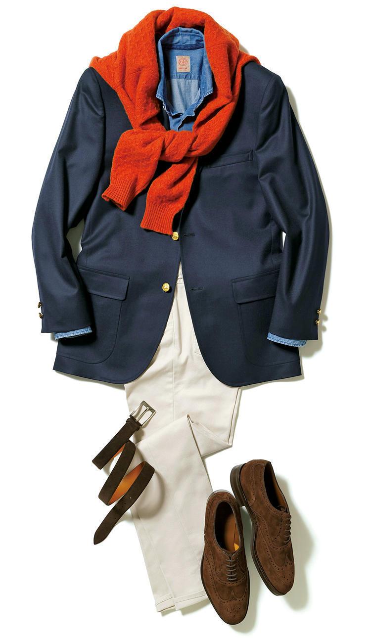 """【""""着回し力""""で選ぶジャケット&パンツ】紺ブレが一着あれば、仕事も休日も1week対応できる! 3番目の画像"""