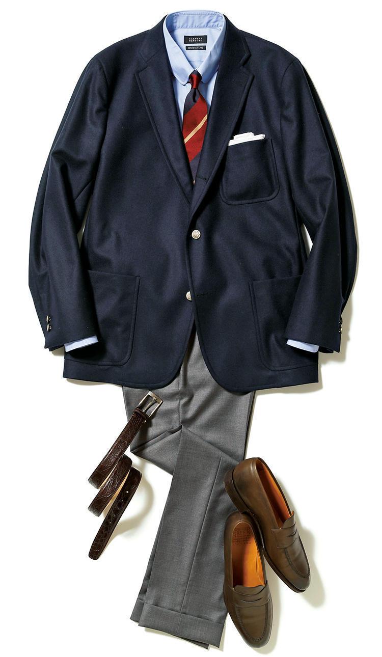 """【""""着回し力""""で選ぶジャケット&パンツ】紺ブレが一着あれば、仕事も休日も1week対応できる! 5番目の画像"""