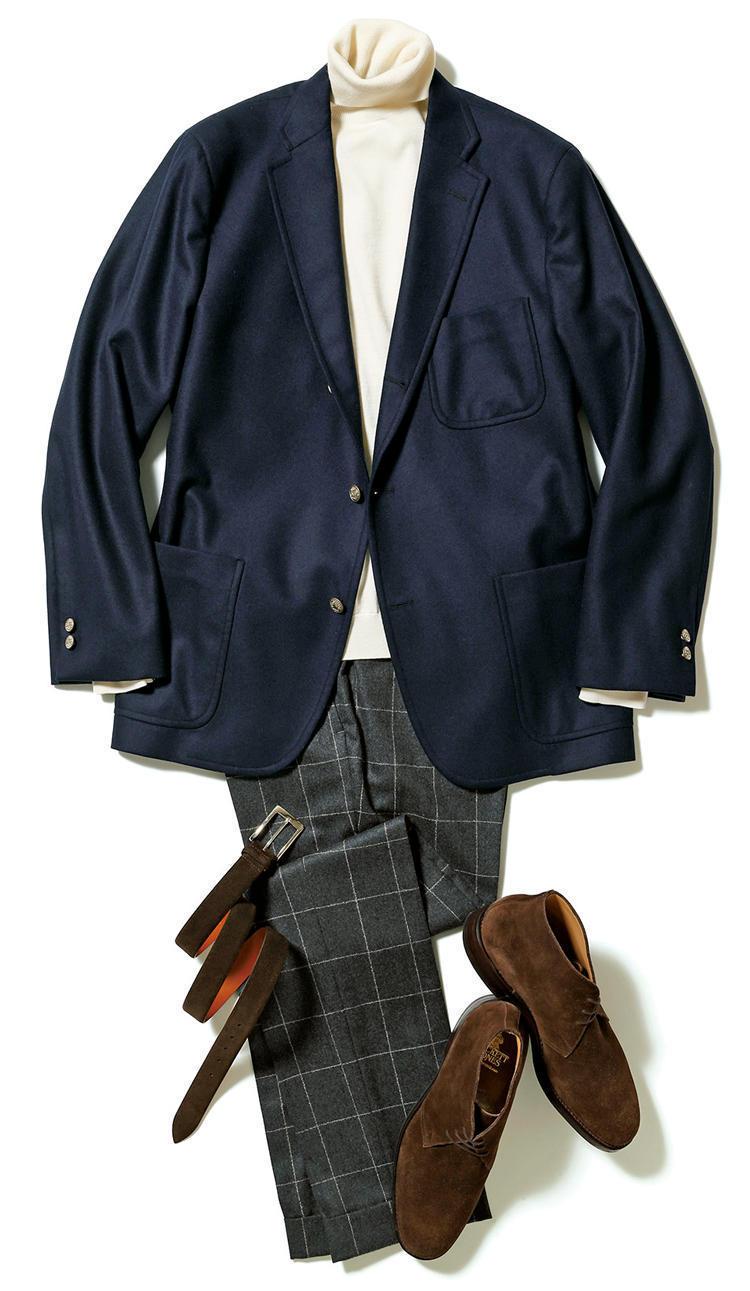 """【""""着回し力""""で選ぶジャケット&パンツ】紺ブレが一着あれば、仕事も休日も1week対応できる! 6番目の画像"""