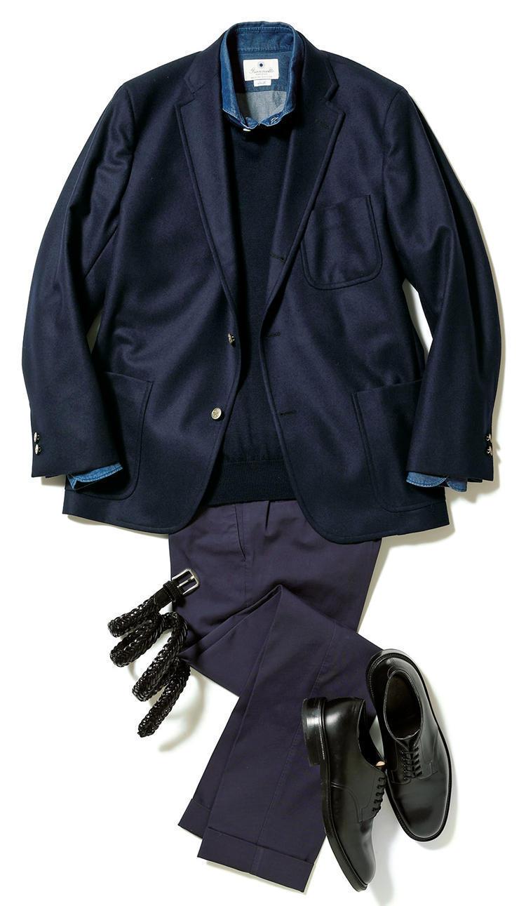 """【""""着回し力""""で選ぶジャケット&パンツ】紺ブレが一着あれば、仕事も休日も1week対応できる! 7番目の画像"""