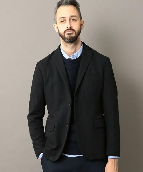 セーター×シャツ×ジャケットのビジカジメンズコーデ集 2番目の画像