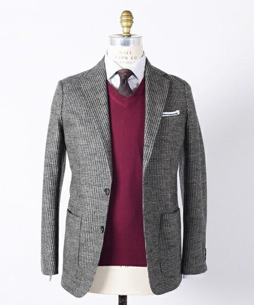 セーター×シャツ×ジャケットのビジカジメンズコーデ集 4番目の画像