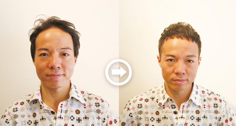 【プロが監修】薄毛をカバーできる髪型に変身!ハゲのタイプ別ヘアカタログ「広くなったおでこ」 1番目の画像