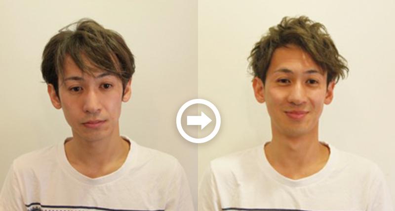 【プロが監修】薄毛をカバーできる髪型に変身!ハゲのタイプ別ヘアカタログ「広いおでこ」 1番目の画像