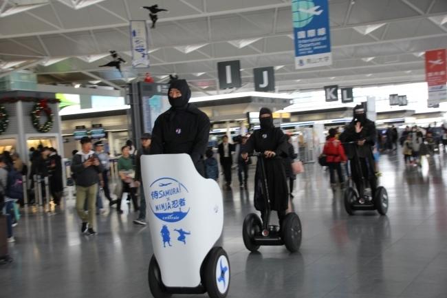 忍者がセグウェイに乗って空港案内。中部国際空港セントレアで新たな忍者ツーリズムが始動 2番目の画像