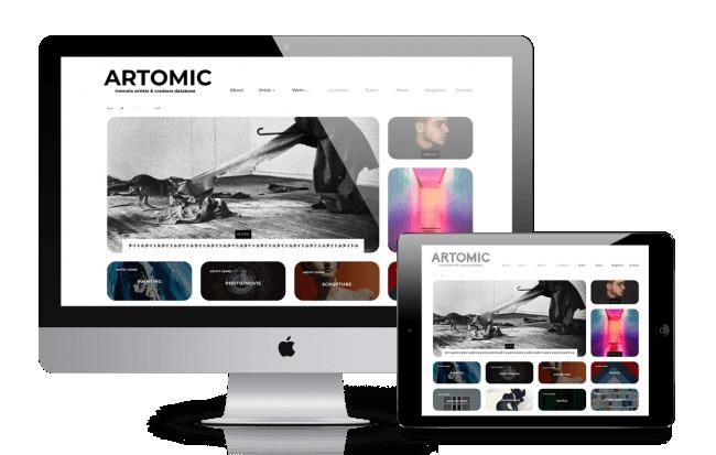 アーティスト達が企業のブランディングを後押し!国内初のキュレーション型アーティストデータベース「ARTOMIC(アトミック)」がサービス開始 1番目の画像