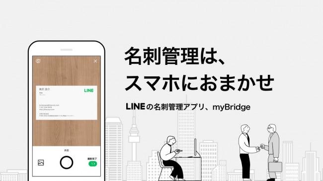 名刺管理アプリ「myBridge」、LINEのトークで簡単に名刺情報が送れる新機能の提供を開始 1番目の画像