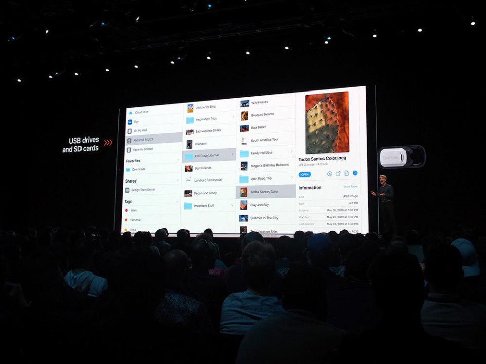 石野純也のモバイル活用術:スマホの進化系からコンピューターへ。新登場のiPadOSを徹底解説【WWDC 2019】 4番目の画像