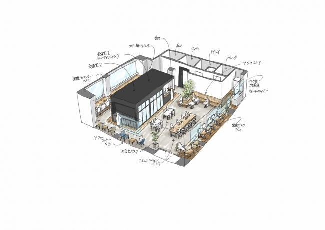 大阪、心斎橋エリアに次世代のコワーキングスペースがオープン。学生と企業の協業を狙う 3番目の画像
