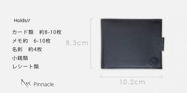ミニマリストのためのお財布。お札、コイン、カードが入って超薄型の二つ折り財布「Arc Clipfold」 4番目の画像