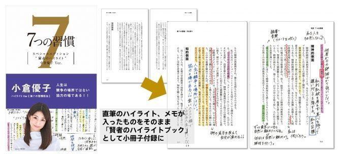 世界的なビジネス書『7つの習慣』に、ゆうこす氏ら7人の著名人による直筆メモを掲載した小冊子付き版が発売! 2番目の画像