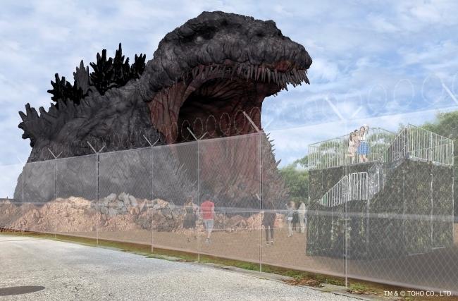 全長約120メートルの等身大ゴジラが淡路島に上陸!新アトラクション、2020年夏にオープン予定 4番目の画像