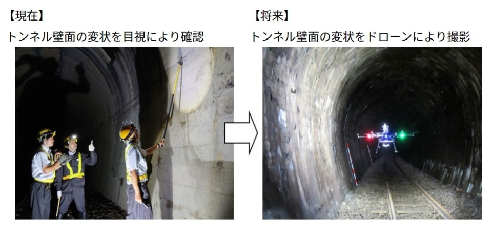 GPSが使えないトンネルでドローン検査の実験に成功!JR北海道とゼンリンデータコムが開発 1番目の画像