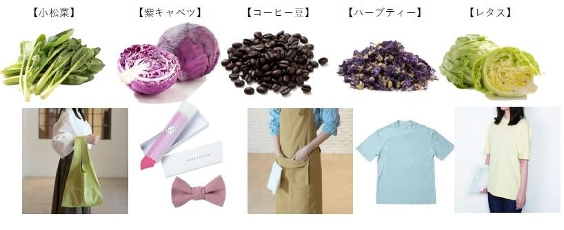 廃棄予定の食材を染料として活用する「FOOD TEXTILE」がLily Brownとのコラボ商品を新発売 3番目の画像