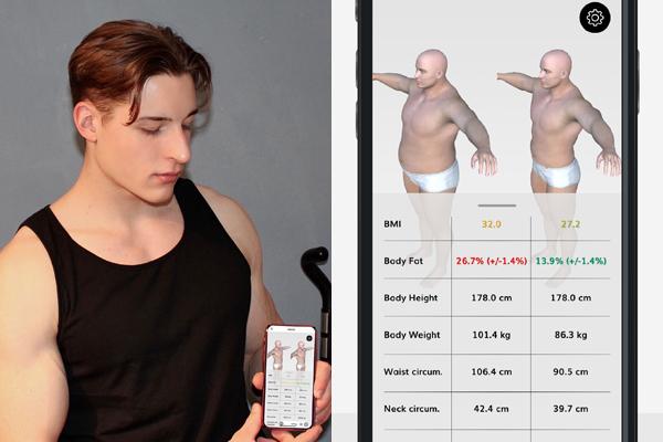 今年こそ理想の肉体を!肉体改造の進捗が一目でわかるドイツ発のアプリ「BMI 3D」 1番目の画像