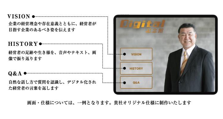 後継者の質問に肉声を合成して返答 経営者の知的資産を承継する「Digital記念館」がリリース 2番目の画像