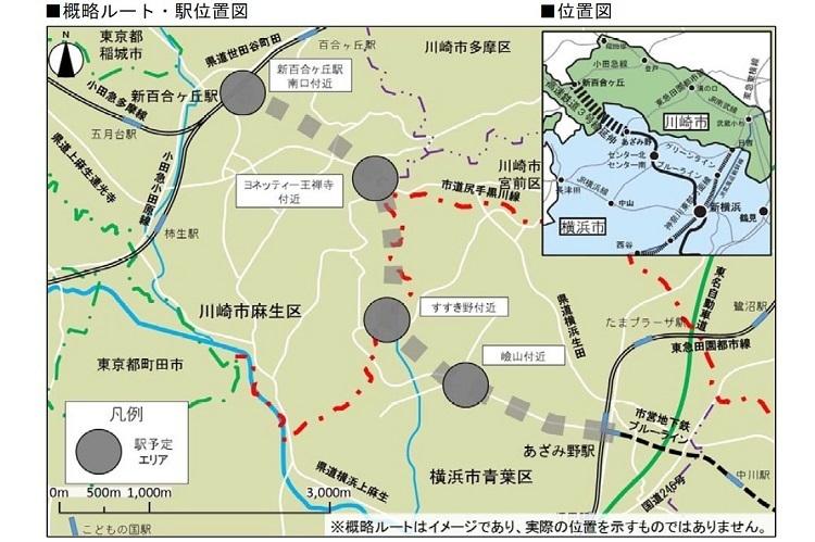 横浜市営地下鉄ブルーラインの延伸ルート・駅位置が決定!新駅は4駅、周辺のまちづくりの方向性は? 1番目の画像