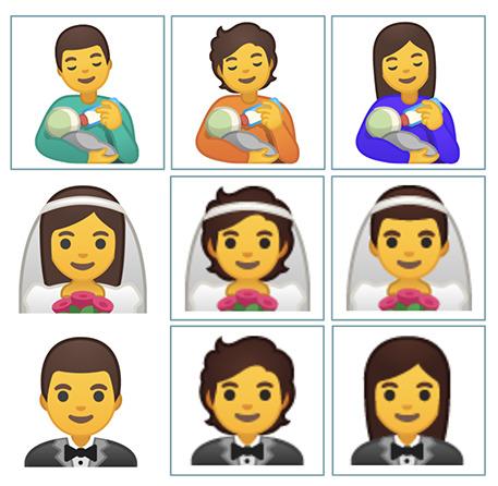 Unicode、新たに絵文字117種を追加 ミルクをあげる男性など時代を反映 1番目の画像