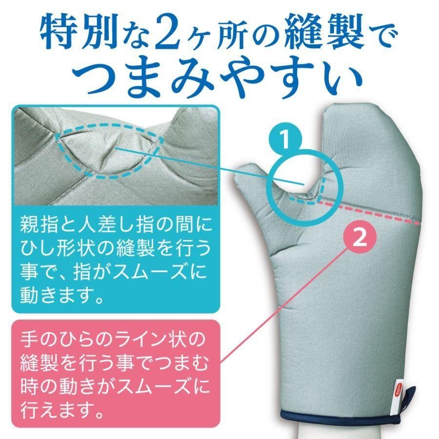 Yシャツのアイロンがけに悩むビジネスパーソン必見!素手を蒸気から保護する衣類スチーマー向けミトン 3番目の画像