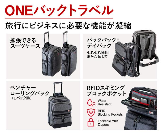 出張の手荷物が1つにまとまるスーツケースVenture Rolling Packが発売! 3番目の画像