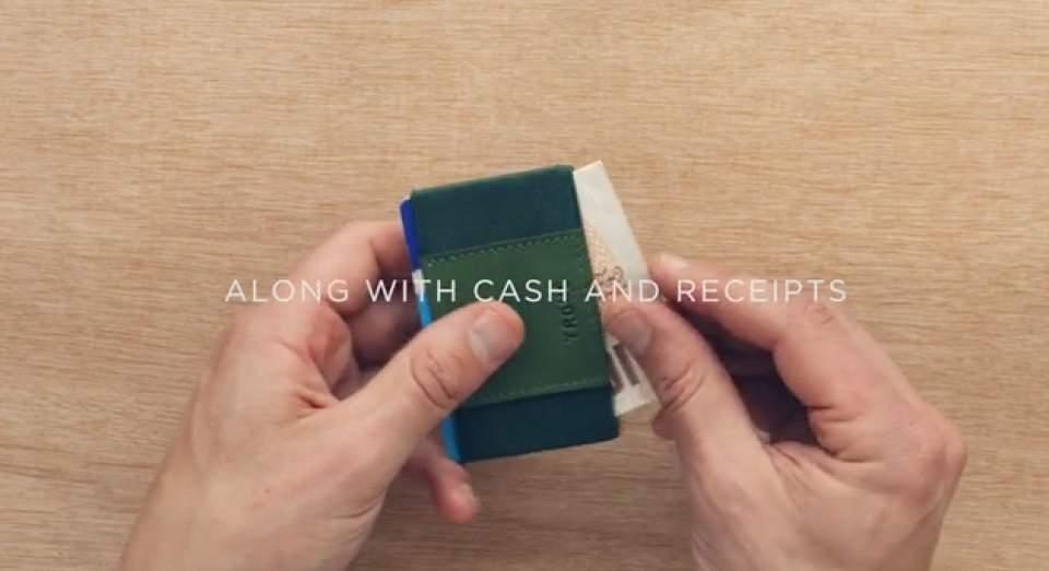 布で挟むだけ!?カード10枚入れても厚さ1cmの超薄い財布が登場 4番目の画像