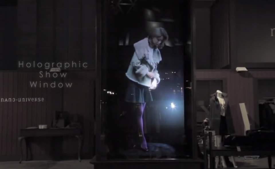 【動画】ショーウインドーの中に現れた、幻の美男美女。ホログラムで変わるファッションショーの未来 2番目の画像