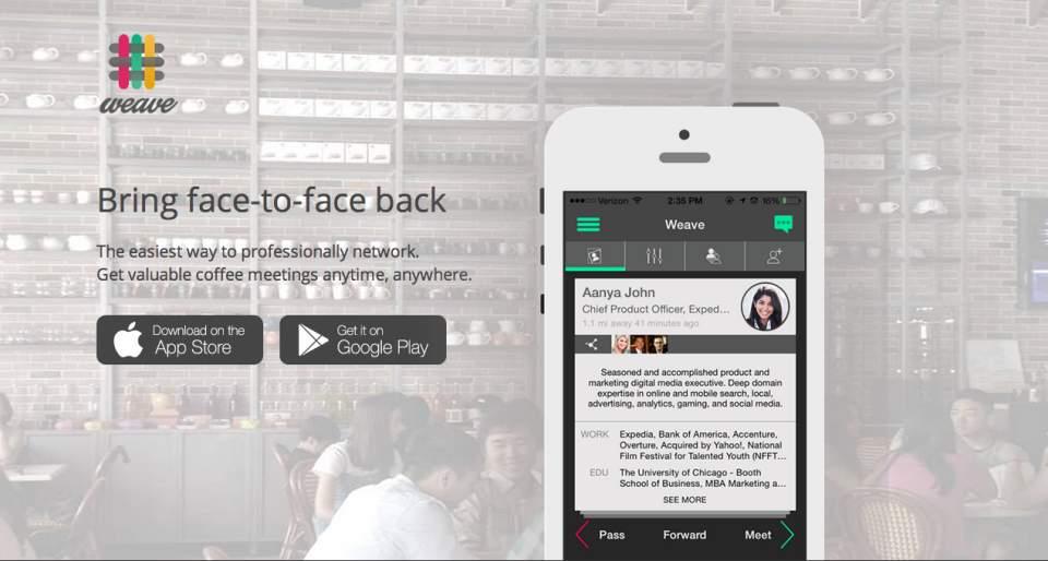 ビジネスマンの出会い系?会ってみたいビジネスマンと会えるかもしれないアプリ「Weave」 1番目の画像