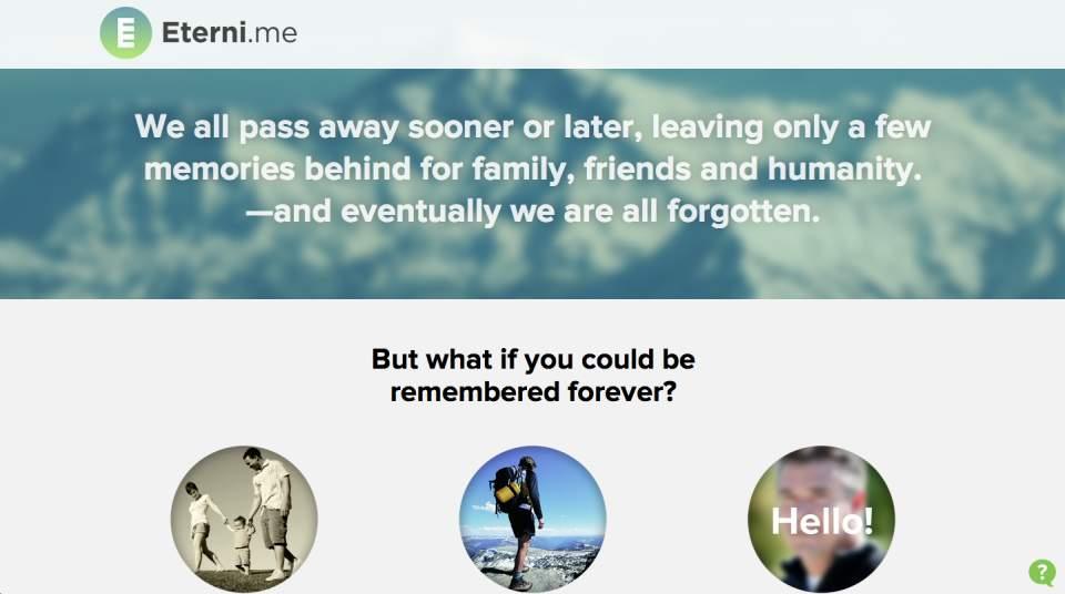 死んだ人との会話が可能に?人工知能を駆使したチャット「Eterni」が気になる 1番目の画像