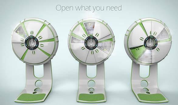 6つの扉の冷蔵庫!?海外デザイナーが生み出した冷蔵庫「FRIGIDO」が近未来的 2番目の画像