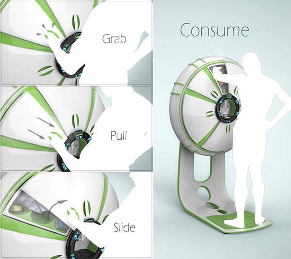 6つの扉の冷蔵庫!?海外デザイナーが生み出した冷蔵庫「FRIGIDO」が近未来的 3番目の画像