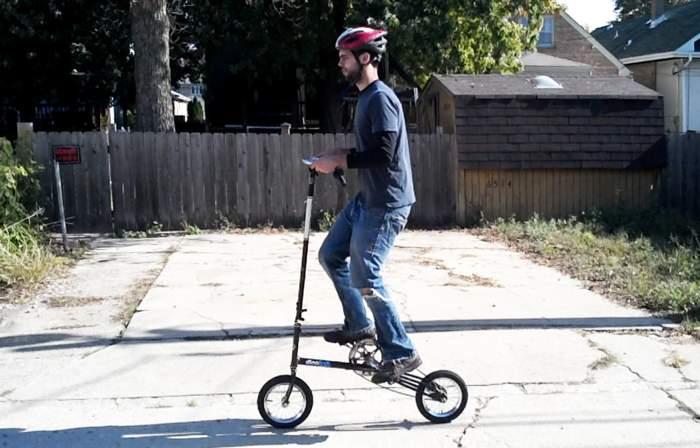 もうサドルなんていらない。サドルの無い折りたたみ「立ち乗り」自転車がスタイリッシュ過ぎる 3番目の画像