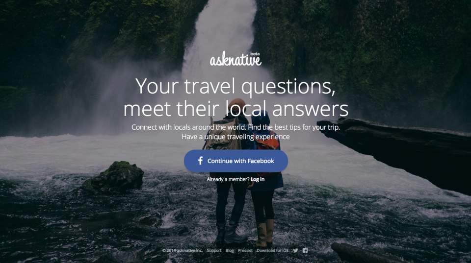 旅先の悩みは現地の人に聞くのが一番!分からないことを現地の人に質問できる「Asknative」 1番目の画像