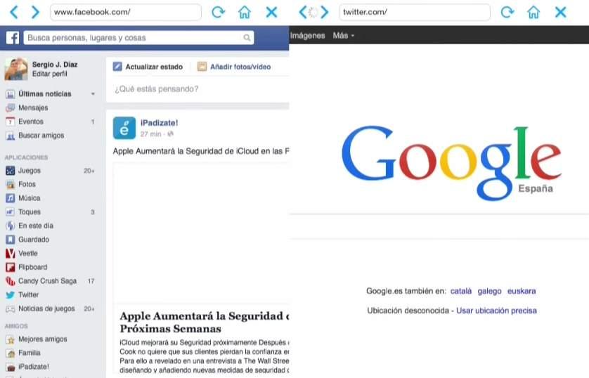 欲張りなあなたに!2つのWebサイトを同時に閲覧できる「Double Browser Pro」 4番目の画像