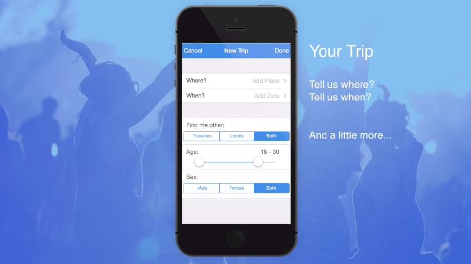 怖い?楽しい?同じ旅行先に行きたい人を探して一緒に旅ができるアプリ「Tripr」が面白そう 2番目の画像