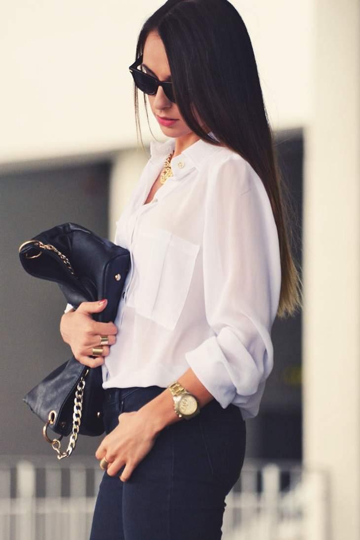 定番白シャツでこんなにオシャレに!オフィスでも普段使いでもいける着こなし5選 4番目の画像