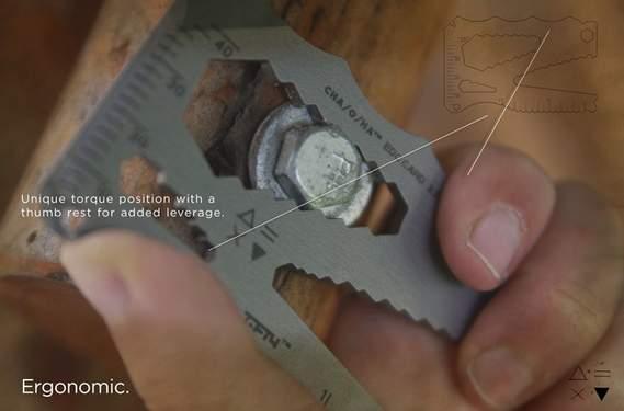財布の中にしまっておけるマルチツール、「EDC Card」さえあればもうアウトドアで困らない 2番目の画像