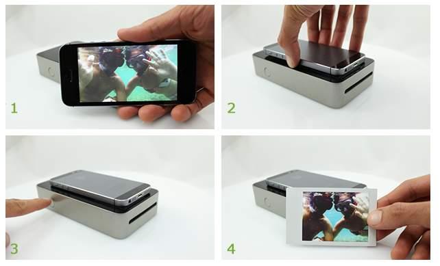 スマホの写真をすぐに現像! どこでも持ち運べる小さなプリンターガジェット「SnapJet」 4番目の画像
