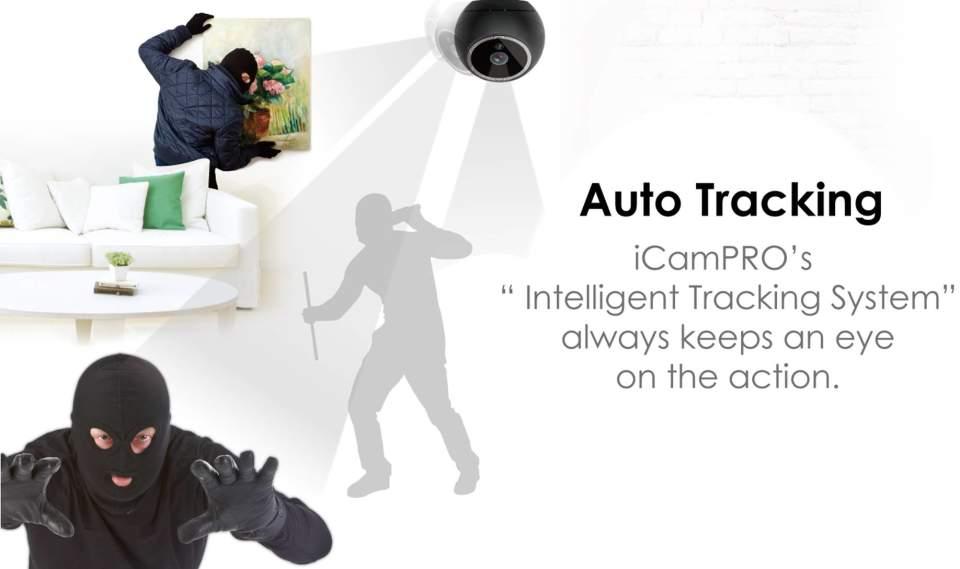 見る、聞く、感じるを備えた高性能なホームセキュリティカメラ。「iCam PRO」があれば家も安全 2番目の画像