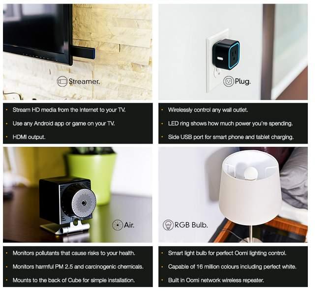 もうスマホすら必要ない? 3つのデバイスで家電を手軽に自動化するIoTガジェット「Oomi」 3番目の画像
