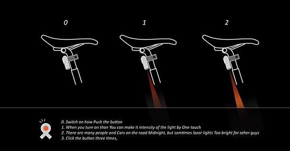 これで夜道の自転車事故も減らせる? 好きな映像を地面に投影できるバックライト「&B」 4番目の画像