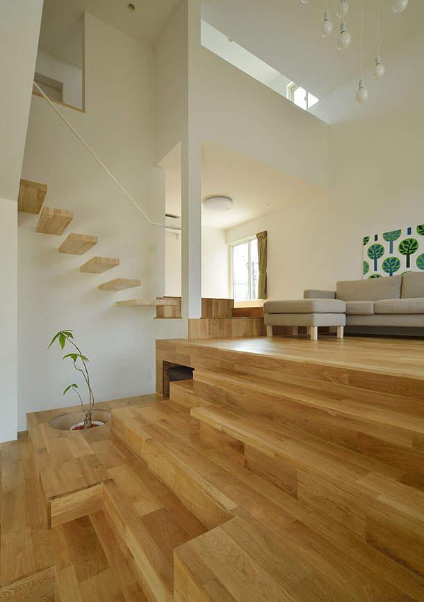 一生モノのマイホームは空間を贅沢に使って暮らしたい。「スキップフロア」の住宅実例まとめ 2番目の画像