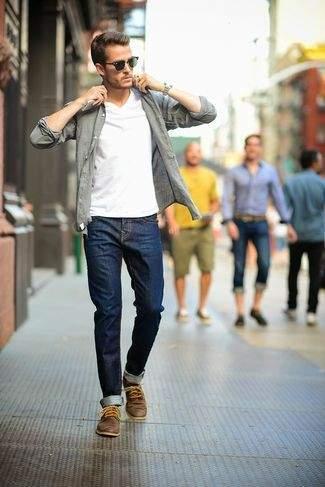革靴×ジーンズで大人なカジュアルスタイル作り。男らしさを引き出すコーディネート術 4番目の画像