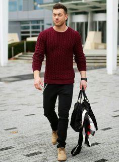 """カラーセーターの持つ様々な顔を攻略せよ! """"赤セーター""""を取り入れた秋冬メンズコーデを一挙ご紹介 2番目の画像"""