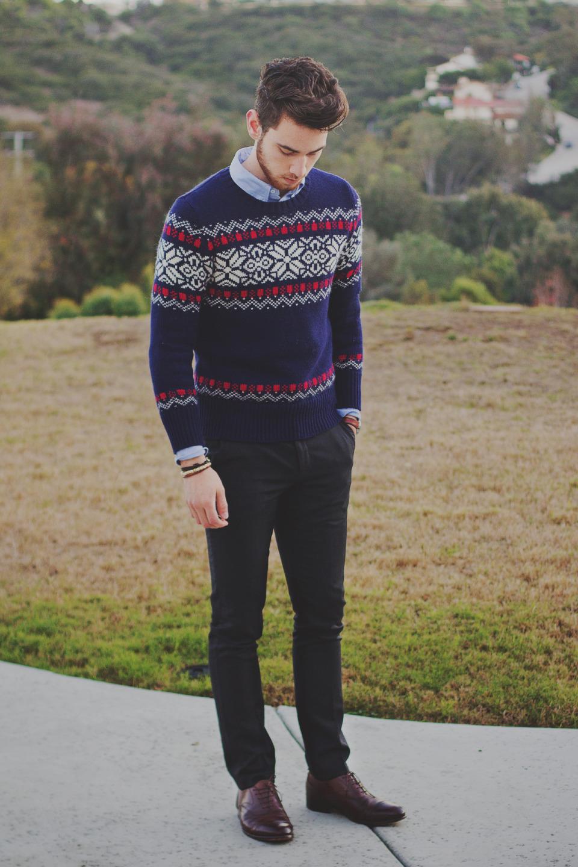 大人らしさの追求を! メンズセーターの大人な着こなしで、セーターのカジュアルなイメージを払拭せよ 5番目の画像