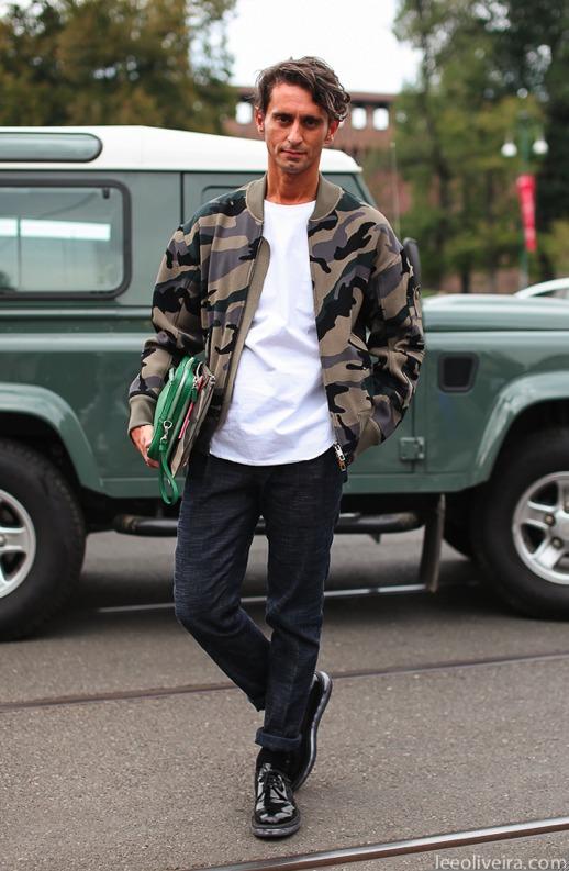 """オールシーズン活躍の""""迷彩柄""""でファッションを楽しむ。海外のお洒落メンズに見る、迷彩の着こなし術 3番目の画像"""