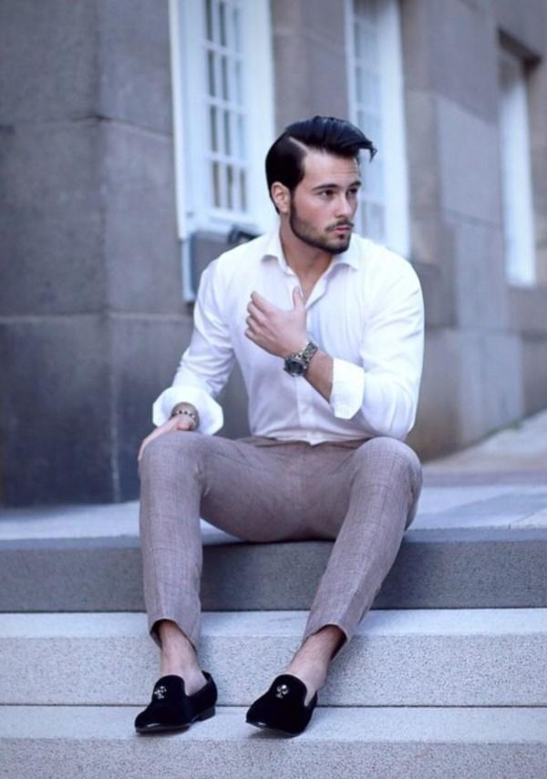 """メンズファッションの大黒柱、""""白シャツコーデ""""決定版:これからの季節には白シャツで爽やかに飾れ 4番目の画像"""