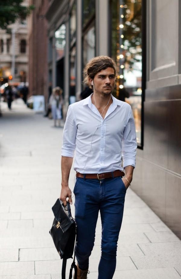 """メンズファッションの大黒柱、""""白シャツコーデ""""決定版:これからの季節には白シャツで爽やかに飾れ 5番目の画像"""