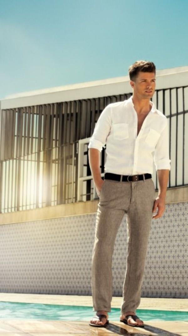 """メンズファッションの大黒柱、""""白シャツコーデ""""決定版:これからの季節には白シャツで爽やかに飾れ 6番目の画像"""