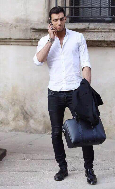 """メンズファッションの大黒柱、""""白シャツコーデ""""決定版:これからの季節には白シャツで爽やかに飾れ 13番目の画像"""